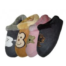 Children's Animal Embroidered House Slippers