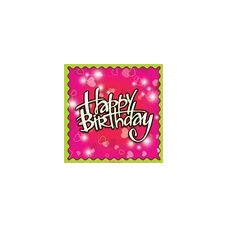 Birthday Love Beverage Napkins - 16ct.