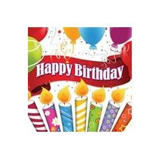 Happy Birthday Candles With Balloons Luncheon Napkins - 16ct.