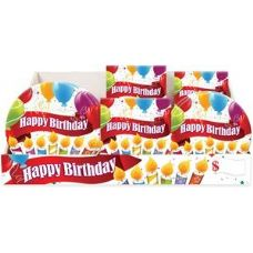 Happy Birthday Candles Pre-Packed Counter Shipper, 96 Ct.