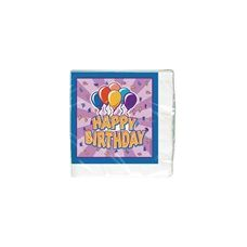Birthday Balloon Beverage Napkins - 16 CT.