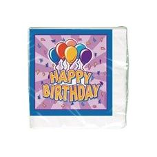 Birthday Balloon Luncheon Napkins - 16 Ct.