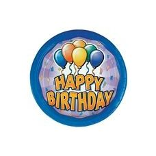 "Birthday Balloon 9"" Plate - 8ct."