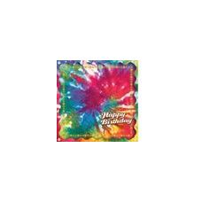 Happy Birthday Tie Dye Beverage Napkins - 16ct.