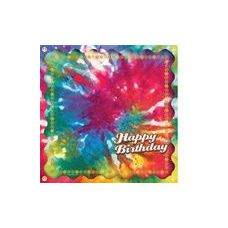 Happy Birthday Tie Dye Luncheon Napkins - 16ct.