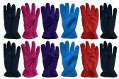 Ladies Warm Fleece Gloves, Packed Assorted Colors