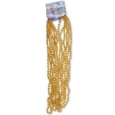 "Festive Beads - 33"" Gold - 6 CT"