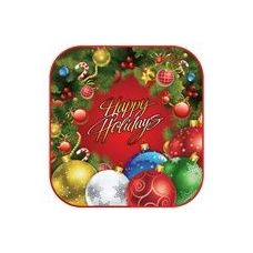 """Holiday Wreath 7"""" Plate - 8ct"""