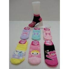 Low Cut Printed Super Soft Fuzzy Socks 9-11