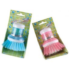 Soap Dispensing Scrub Round Brush