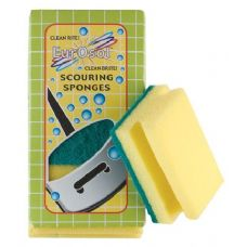 3 Pk Easy Grip Scouring Sponges
