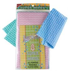 8 Pk All Purpose Reusable Wipes