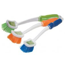 Scrubbing Brush With Rubber Grip Handle