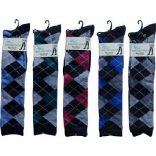 Argyle Trendy Knee High