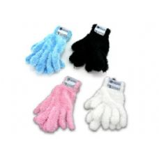 adult feather gloves assorted colors