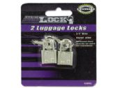 Luggage locks with keys