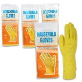 YELLOW HOUSEHOLD CLEANING GLOVES COMES IN SIZES S, M, L & XL