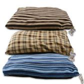 STRIPED DOG BEDS IN 3 COLORS PET BED ALSO FOR CATS - 33in X 27in