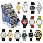 24 PC WATCH WITH 12 PC DISPLAY ASSORTED COLOR AND STYLE