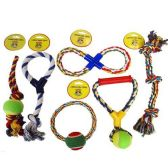 DOG TOYS 6 ASSORTED