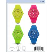 40MM Milano Expressions Silicon Watch - 47002-ASST