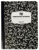 COMPOSITION NOTEBOOK 100 SHEET 9.75 X 7.5 INCH WIDE RULED