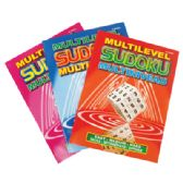 SUDOKU BOOK 96 PG MULTILEVEL ASSORTED VOLUMES