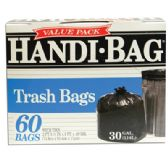 HANDI BAG TRASH BAG 60 COUNT 30 GALLON