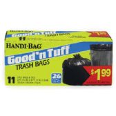 HANDI BAG GOOD AND TUFF TRASH BAG 11 COUNT 26 GALLON PREPRICED $1.99