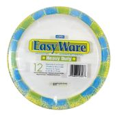 EASY WARE PRINT DESIGN 8 5/8 12CT HEAVY DUTY PAPER PLATE MICROWAVE SAFE GREASE RESISTANT