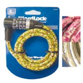 BICYCLE LOCK 4 FT 8 MM ASSORTED DESIGNS-WORD COMBINATION