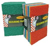 SCOURING PADS 10 PACK IN DISPLAY
