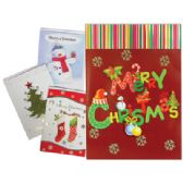PRIDE JUMBO CHRISTMAS CARDS 8.25 X 11.5 INCHES ASSORTED GLITTER/3-D DESIGNS