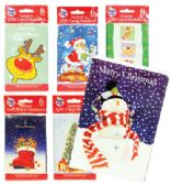 PRIDE CHRISTMAS GIFT CARD HOLDER 6 PK 3.75 X 5.25 INCH ASSORTED DESIGNS