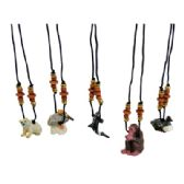 LAND AND SEA WOODEN NECKLACE ASSORTED ANIMAL DESIGNS