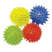 FLASHING SQUEEZE BALL 2 INCH WITH LED LIGHT IN DISPLAY
