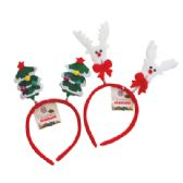 CHRISTMAS HEADBAND ASTD REINDEER/CHRISTMAS TREE DESIGNS