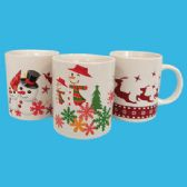 CHRISTMAS CERAMIC MUG 12 OUNCE ASSORTED DESIGNS
