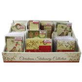 CHRISTMAS STATIONARY DISPLAY INCLUDES SPIRAL NOTEBOOK