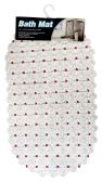 BATH MAT 15 X27 INCH ANTI-SLIP CLEAR WITH ASSORTED DOTS