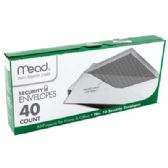 MEAD SECURITY ENVELOPES 40 CT #10 WHITE
