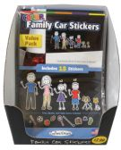 FAMILY CAR STICKERS 18 PACKDISPLAY BOX 9 BLKANDWHT+9 COLOR