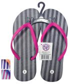 PRIDE LADIES FLIP FLOP STRIPED ASSORTED SIZES 5-10 AND COLORS
