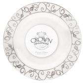 CROWN DINNERWARE DINNER PLATE 7 INCH 10 PACK PLATINUM COLLECTION