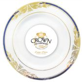 CROWN DINNERWARE DINNER PLATE 10 INCH 8 PACK RENAISSANCE COLLECTION