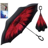 INVERTED UMBRELLA DOUBLE LAYER 41 INCH ASSORTED DESIGNS