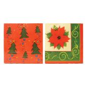 CHRISTMAS NAPKIN 13X13 INCHES 2 PLY 20 COUNT ASSORTED