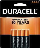 DURACELL AAA 4 PK COPPERTONE BATTERIES