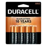 DURACELL AA 8 PK COPPERTONE BATTERIES
