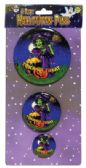 HALLOWEEN BUTTON PINS 3.5 2.5 AND 1.5 INCH PREPRICED AT $2.99